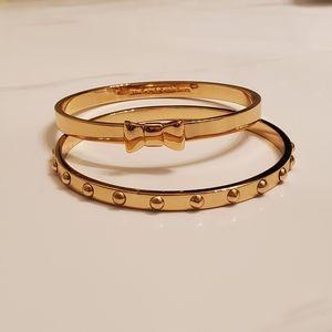 Kate Spade Gold Bangle Bracelet set